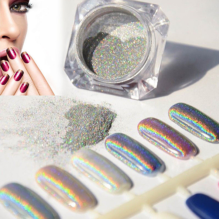 Best Holographic Nail Powder: Nails Supplies Colors UV Nails Gel