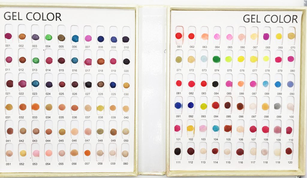 Nail Dip Powder Color Chart